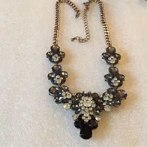 Vintage statement rhinestone necklace
